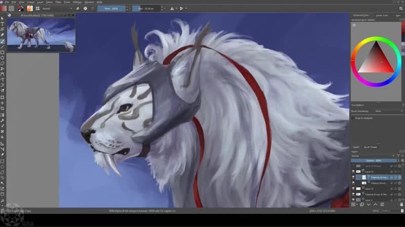 Speedpaint – Majestic Big Cat ( 1078 X 1920 60fps )