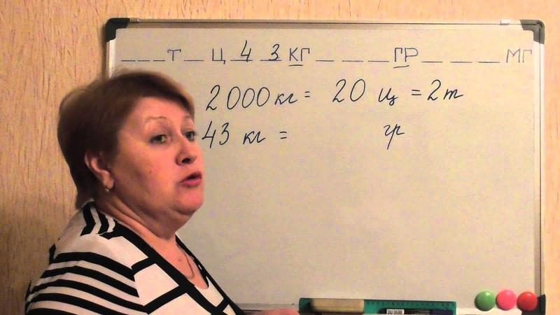 Единицы измерения массы 2 урок