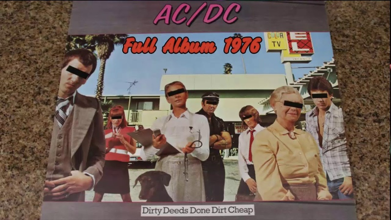 ACDC - Dirty Deeds Done Dirt Cheap Full Album Live 1976