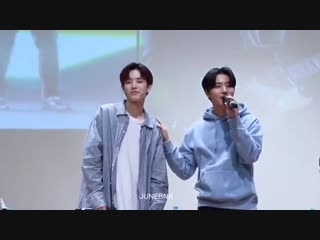 Jae really couldnt face youngk while singing I love you baby, this is true jaehyungparkian culture
