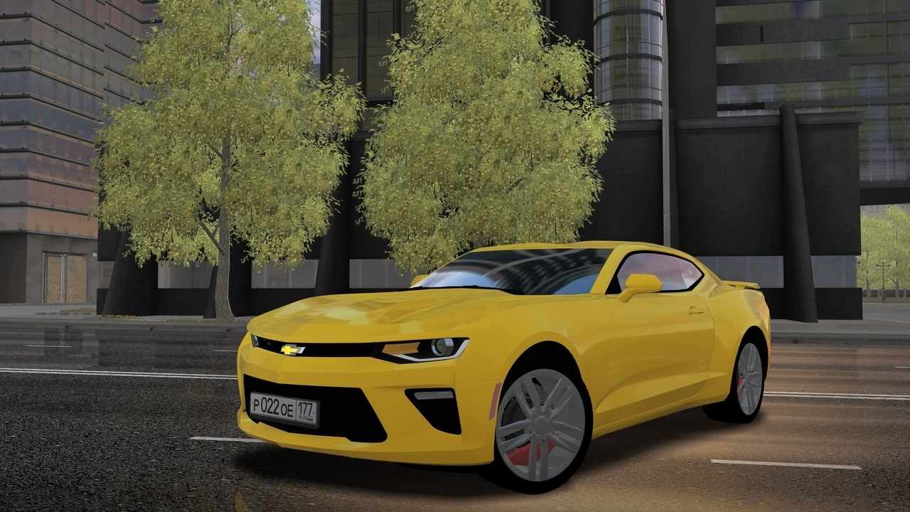 2018 Chevrolet Camaro V8 City Car Driving 1.5.6