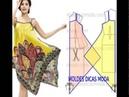 Крой и шитье летнего платья и сарафана из двух платков или двух квадратов ткани