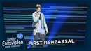 Daniel Yastremski - Time - First Rehearsal - Belarus 🇧🇾 - Junior Eurovision 2018
