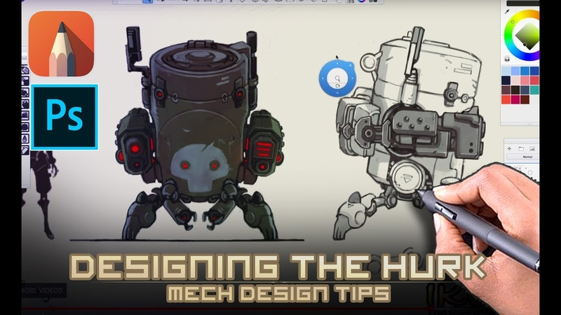 Mech Design Tips for Concept artists - Which thumbnail do I take to final