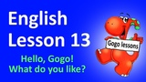 English Lesson 13 - What do you like This or That Sing-along. Counting.