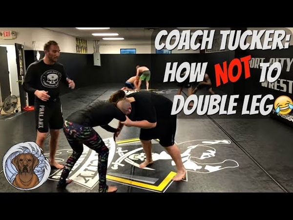 Coach tucker double leg goes wrong