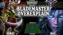 Grubby   Warcraft 3 TFT   1.30   ORC v NE on Terenas Stand - Blademaster Overexplain