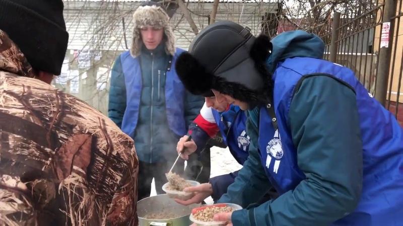 Акция накорми голодного. Город Иркутск