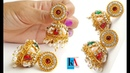 Designer Jhumkas at Home || making of Designer Silk Thread Jhumkas with loreals ||DIY