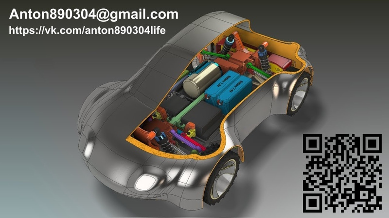 3D Printable RC car by Anton890304