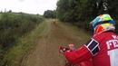 Kev Feltham/ Niki Adair twin shock sidecarcross race 1