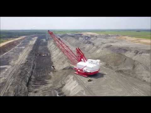 Dragline Working at Luminant Lignite Mine - Kosse, Texas