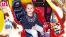 Ника играет на Детской Веселой Площадка с Горками, Батуты и Бассейн с Кубиками Песенки для детей