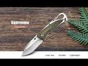 Камуфляжный зеленый Sanrenmu 7053LUC Складной нож gearbest