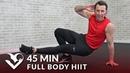 45-минутная тренировка всего тела ВИИТ с гантелями. 45 Minute Full Body HIIT Workout with Dumbbells - 45 Min HIIT Home Workout with Weights