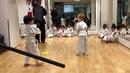 Benjamin's sword fight in Karate