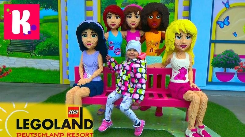 Германия 2. Леголенд парк аттракционов/ Катя катается на игрушечном паровозике/ Legoland Germany