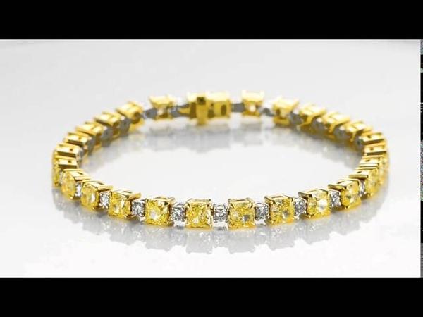 Absolutely gorgeous Yellow Diamond Tennis Bracelet