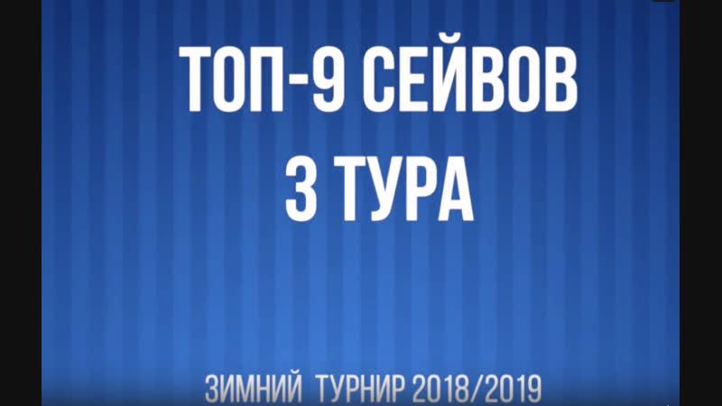 Топ-9 сейвов 3 тура Зимнего турнира 2018:19