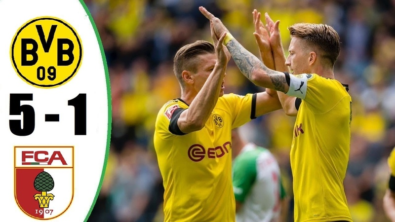Borussia Dortmund vs Augsburg 5-1 All Gоals Extеndеd Hіghlіghts - 2019
