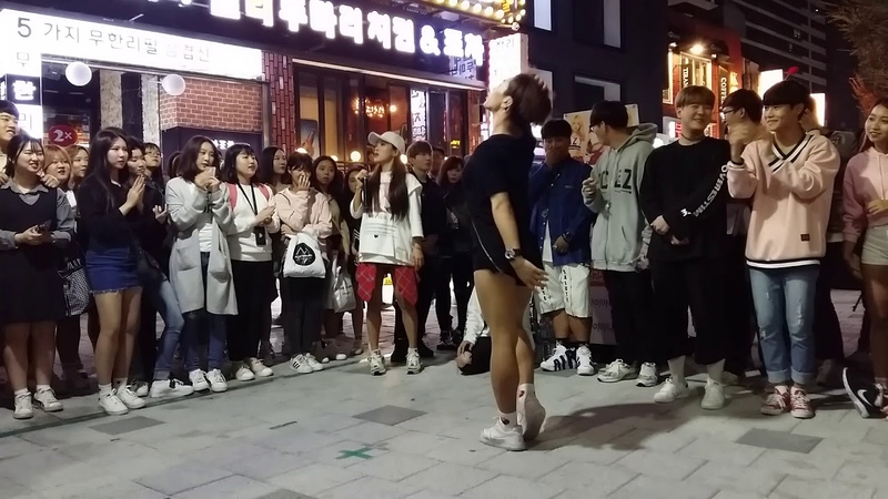 2017 10 8 고싶은거리 대 로마포차앞 스트 레드크루 성댄스팀 Diana