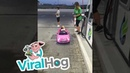 Tiny Driver Fuel Up ViralHog