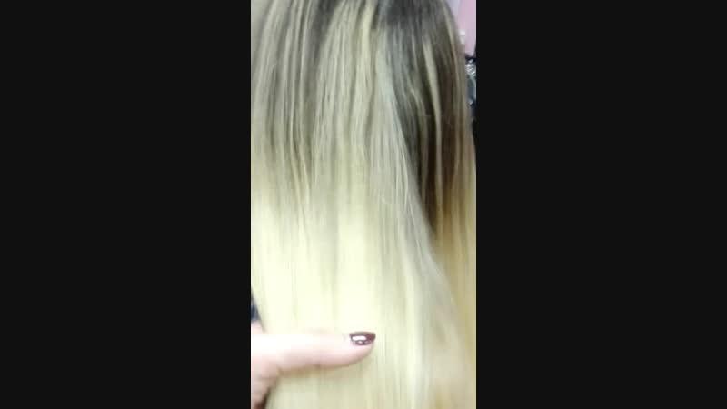 Окрашивание осветленных волос в русый цвет