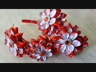 Праздничный ободок с новыми лепестками/Holiday headband/D.I.Y