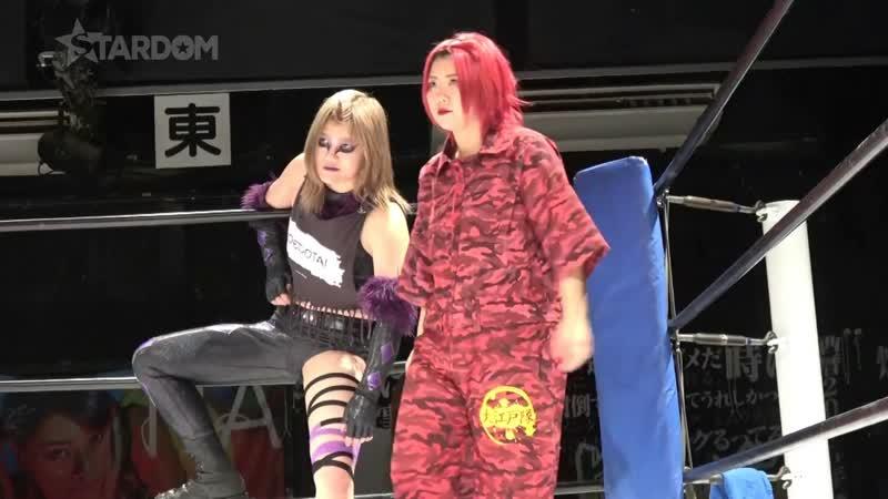 Oedo Tai (Andras Miyagi Natsuko Tora) vs. Saki Kashima Tam Nakano
