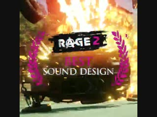 With a new rage2 trailer arriving at thegameawards, we thought wed showcase our perfectly crafted sound design.