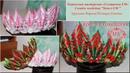 Новогодняя корона-кокошник. Канзаши. DIY Christmas Korona-kokoshnik
