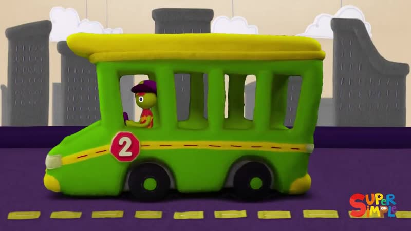 10 Little Buses ¦ Super Simple Songs