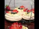 Пирожное Павлова с ягодами