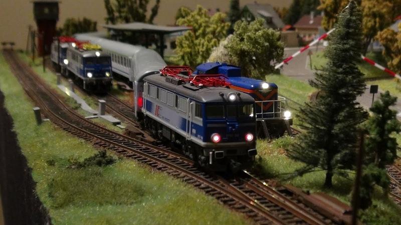 Pociągi PKP Intercity - manewry, jazda, trzy siódemki i stonka