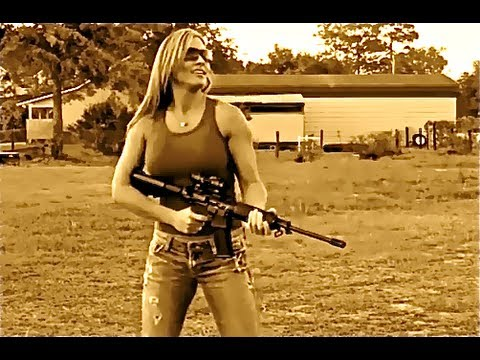 GIRLS and GUNS GUN COMPILATION Shooting the AR 15 Rifles Handguns and Shotguns and explosions