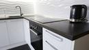 Кухни под заказ 2019. Угловая белая кухня из крашеного МДФ. Дизайн интерьера кухни