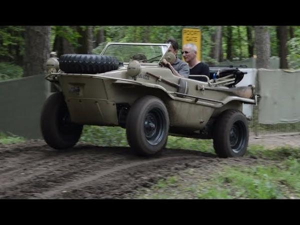 Берлинский кюбельваген (Kübelwagen Schwimmwagen) in the mud