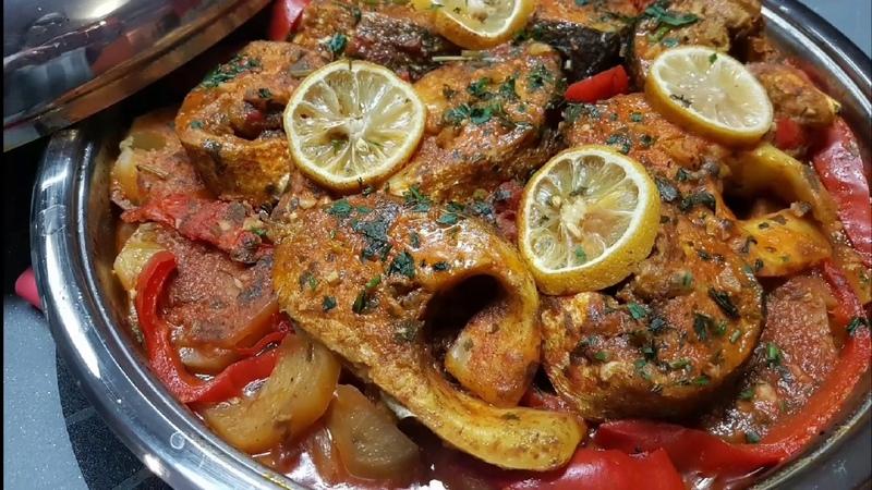 Марокканский рыбный таджин с картофелем, морковью, с томатной пастой / Tajine de poisson facile et rapide