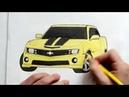Как нарисовать машину Chevrolet Camaro Ehedov Elnur How to draw Chevrolet Camaro
