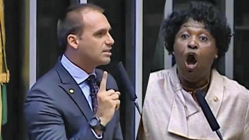 ➜ Benedita atacα Bolsonaro, e Eduardo responde à altura