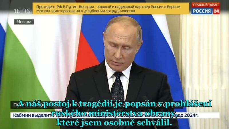 [AE News] Reakce Vladimira Putina na sestřelení ruského IL-20 v Sýrii! [CZ Titulky]_arc