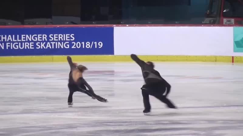 Alisa EFIMOVA _ Alexander KOROVIN RUS Short Program 2018 Golden Spin of Zagreb