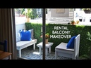 DIY small rental balcony makeover for outdoor living