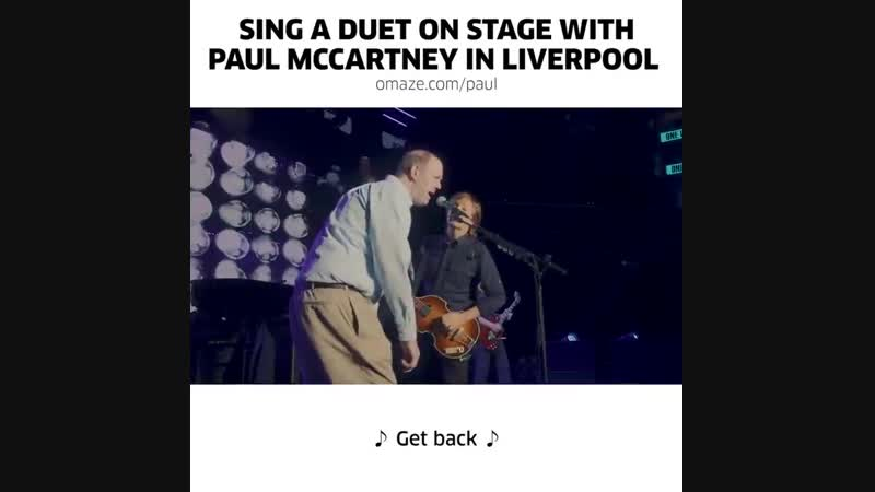 Sing A Duet On Stage With Paul McCartney In Liverpool
