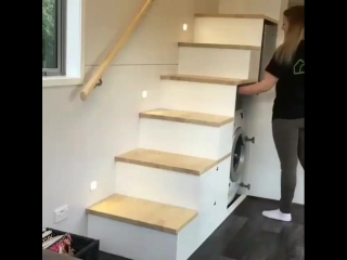 Идея размещения под лестницей. Классное решение - vk.com/bg.remont