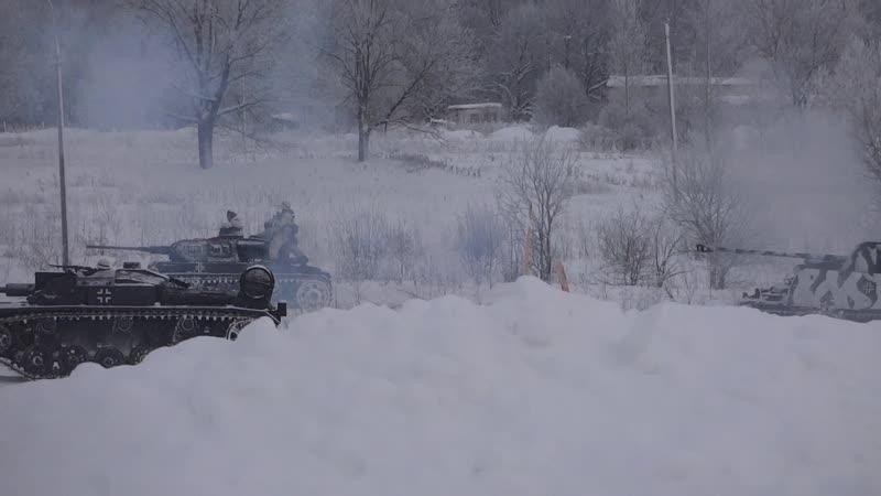 Немецкая танковая контратака 19 01 2019 Красное Село