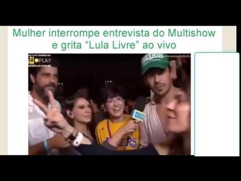 Mulher invade entrevista AO VIVO do MULTISHOW e grita LULALIVRE