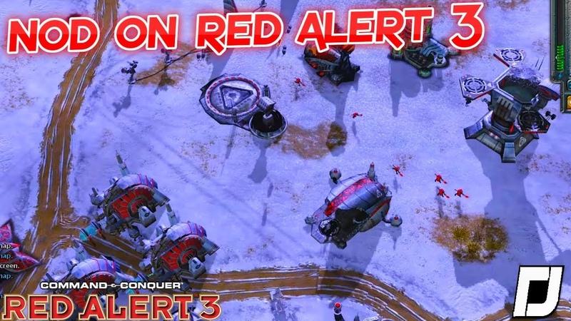 Alternate Universe Nod on Red Alert 3 1v1 Vs Brutal Ai Skirmish Gameplay 2019 4k