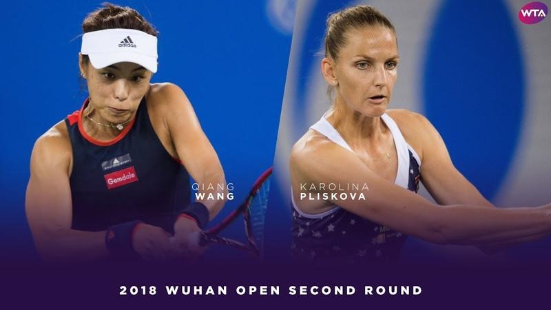 Karolina Pliskova vs. Qiang Wang   2018 Wuhan Open Second Round   WTA Highlights 武汉网球公开赛