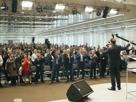Трансляция служения 18.01.19 начнется в 12:30 по московскому времени